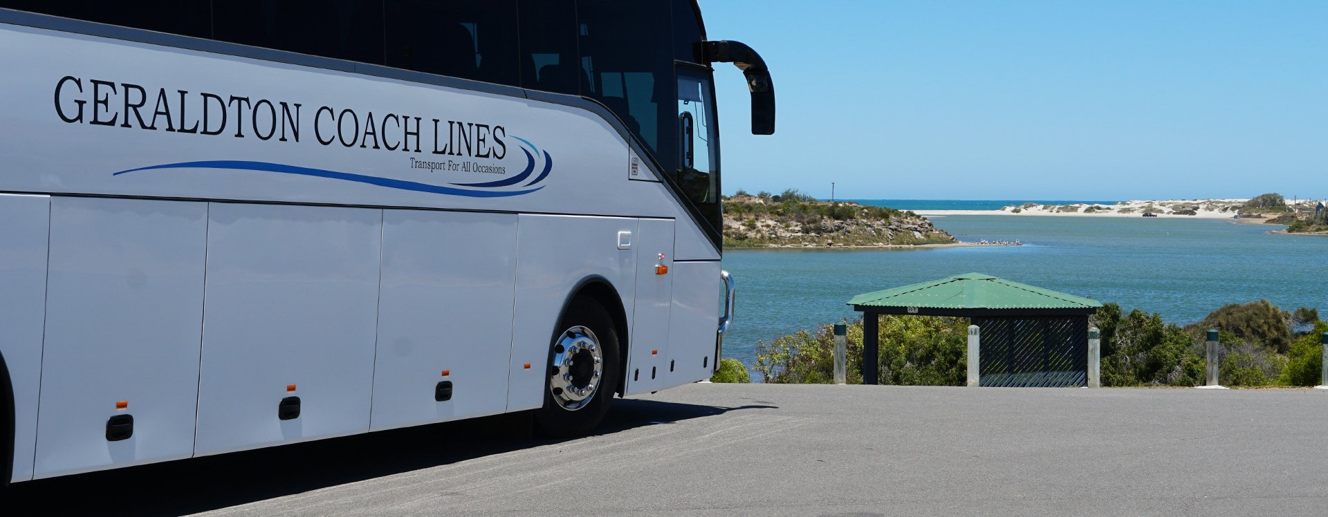 Bus at the mouth of the Greenough River